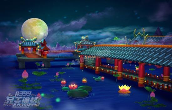 完美漂移月影长阁风景图