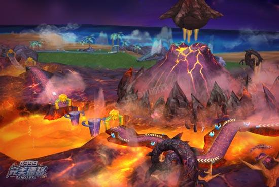 完美漂移火山岛风景图