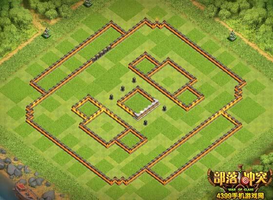 部落冲突11本最新阵型显示城墙