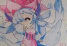 洛克王国手绘之绯雪的微笑