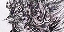 黑白绘画之手绘雨之祖巫