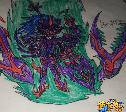 地狱蛇纹身手稿