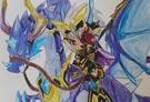 洛克王国手绘之无敌龙骑士