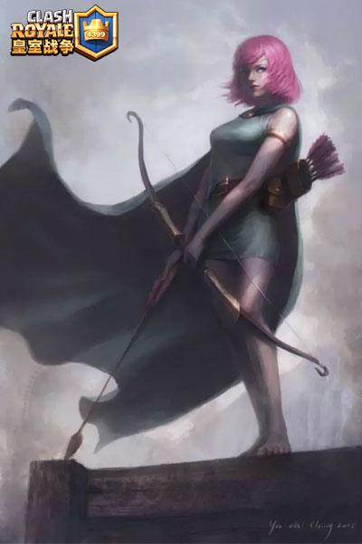 皇室战争弓箭手手绘