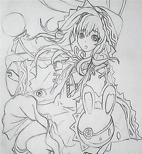 创世联盟爱丽丝手绘