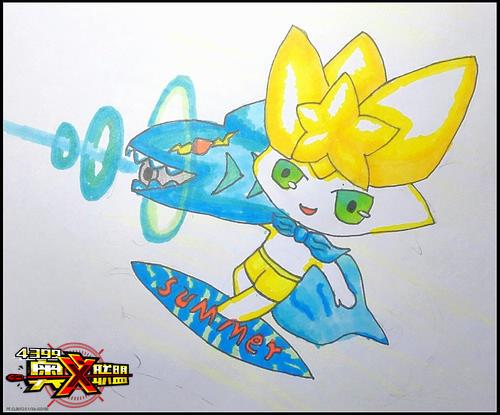 小鲨鱼手绘设计