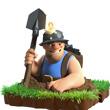 部落战争掘地矿工