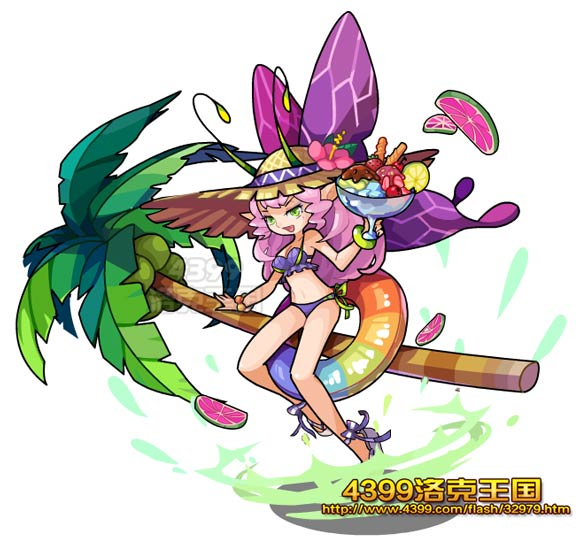 洛克王国泳装蝶后