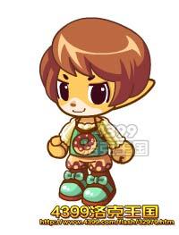洛克王国巧克力女孩套装