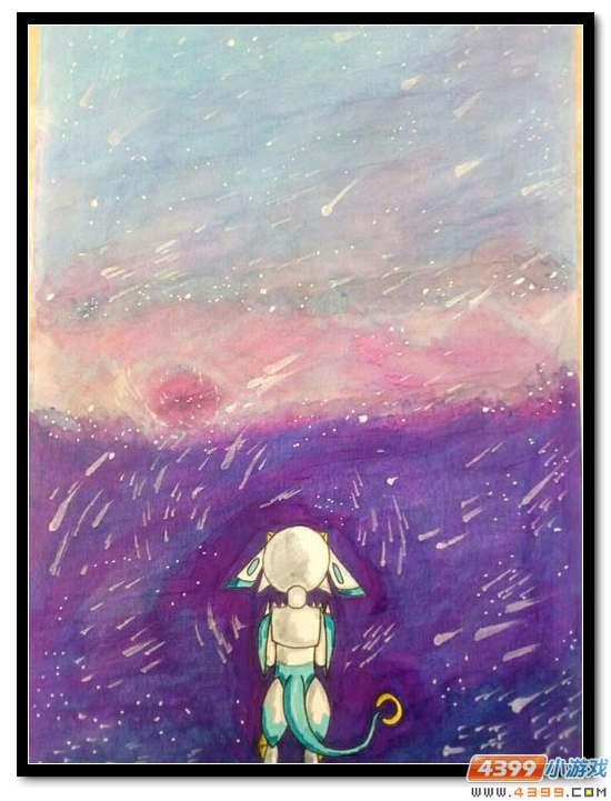 赛尔号手绘 星光雨落