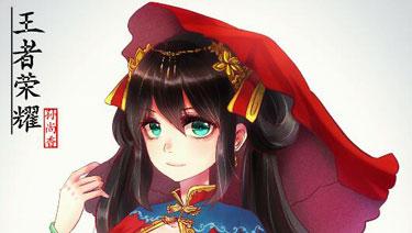 王者荣耀同人手绘 孙尚香出嫁的样子你见过吗?