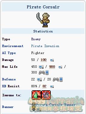 泰拉瑞亚海盗船员