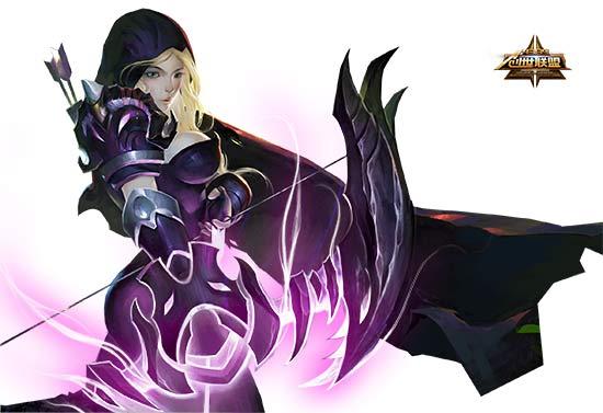 创世联盟狄安娜皮肤大图 紫魂精灵狄安娜图片