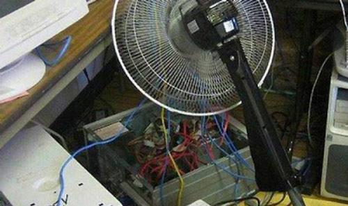 风扇降温法