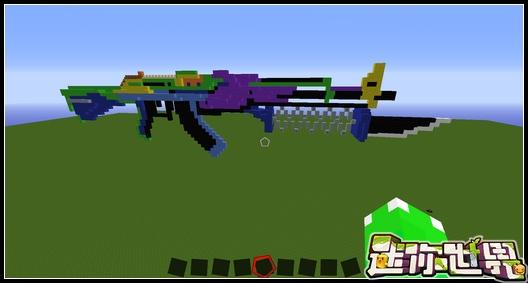 迷你世界玩家作品欣赏:AK47突击步枪