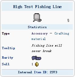 泰拉瑞亚高性能钓鱼线