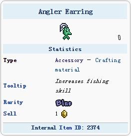 泰拉瑞亚渔夫耳环
