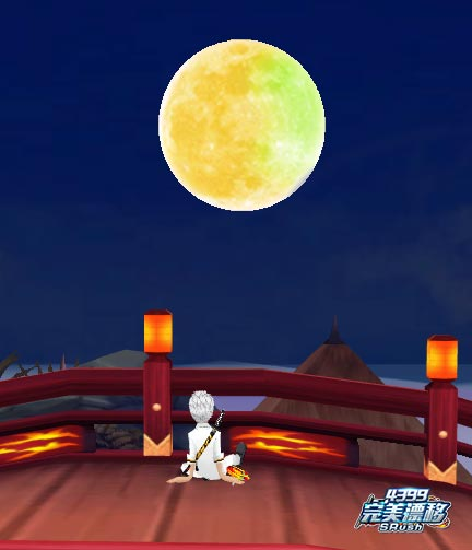 完美漂移游戏截图之一个人看月亮