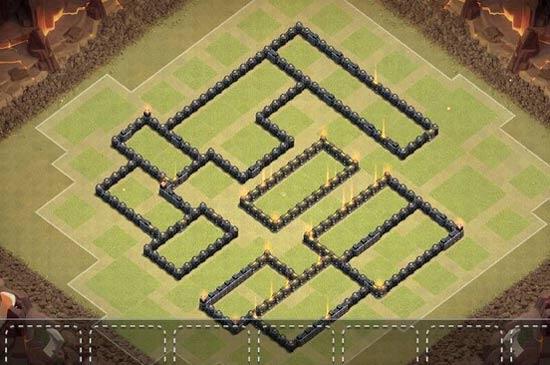 部落冲突9本原创半诱导阵型!主要防地面流的进攻