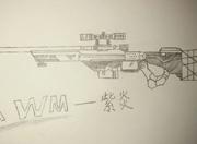 火线精英手绘AWM-紫炎
