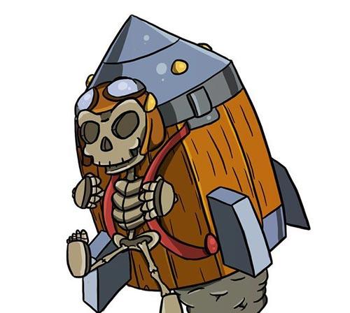 皇室战争火箭骷髅