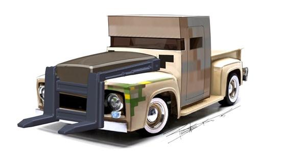 我的世界汽车设计图 充满mc元素的汽车设计