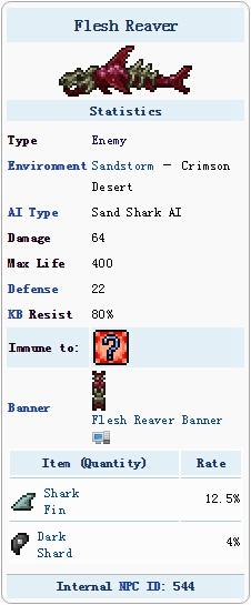泰拉瑞亚猩红沙鲨