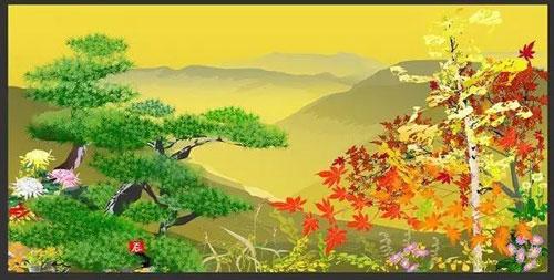 堀内辰男最早的获奖作品《山乡的眺望》