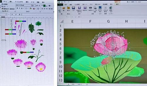 Excel不仅能画画,甚至分出了不同流派