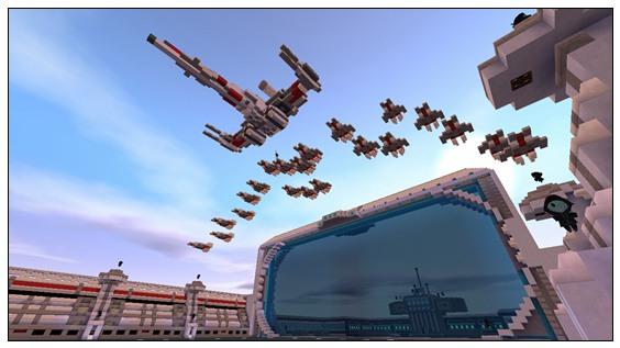 迷你世界对战地图:抵御外星人 好玩存档分享