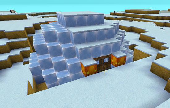 迷你世界冰原小屋