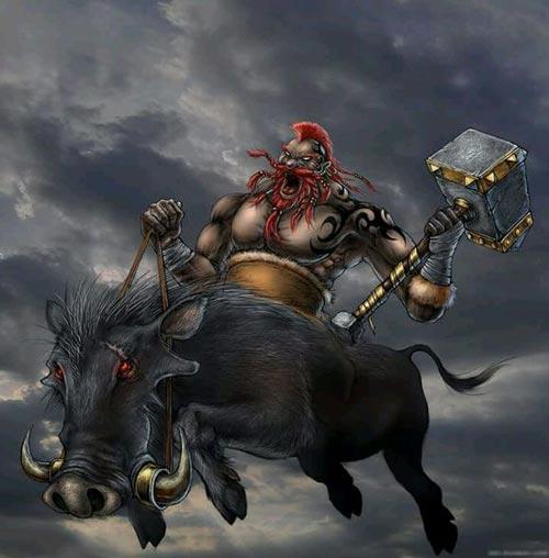 皇室战争暗夜野猪骑士