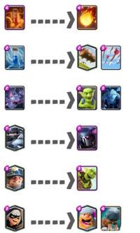 皇室战争可替换卡牌