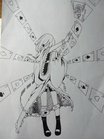 西普大陆精美手绘 自创卡牌之圣「爱露思」