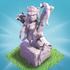 部落冲突夜世界弓箭女皇雕像