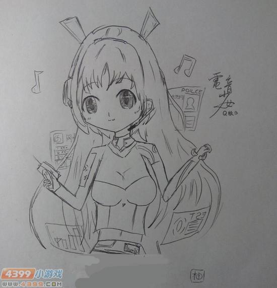 生死狙击玩家手绘-q版电音少女