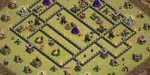 部落冲突9本部落战方格子阵型