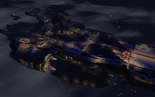 我的世界军舰 手机版星际空母地图存档下载