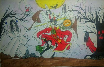 西普大陆精美手绘 万圣节快乐