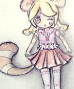 奥比岛魔力服装浣熊少女服装