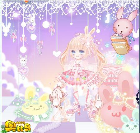 奥比岛奥比秀可爱的兔子