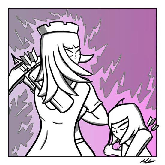 部落冲突这个女王很有气势