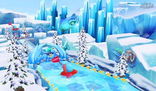 完美漂移冰雪竞技场风景图