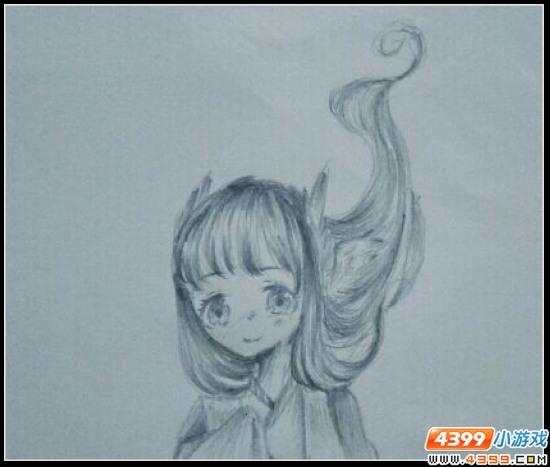 赛尔号手绘 铅笔画波斯蒂加