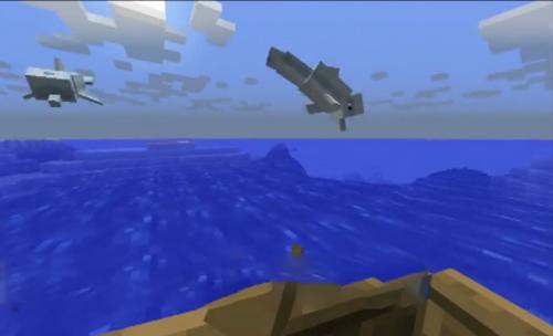 我的世界海豚怎么驯服 手机版海豚驯服方法