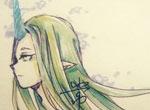 赛尔号手绘 漂浮的白魂妖姬