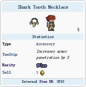 泰拉瑞亚鲨鱼牙项链