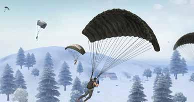 荒野行动多人跳伞的空中姿势 你猜是哪种