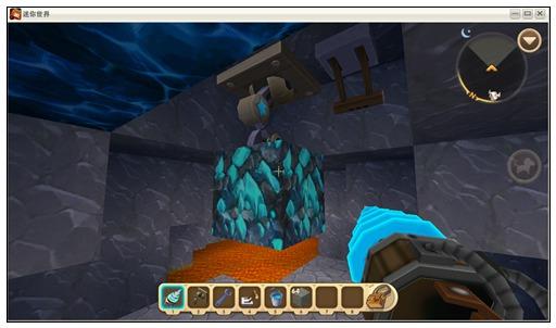 迷你世界岩浆中的蓝钻石矿怎么挖 挖矿技巧