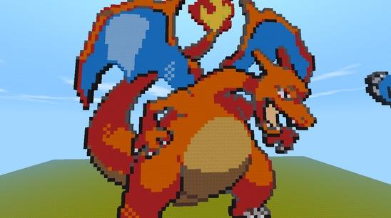 迷你世界像素画存档:宠物小精灵 好玩存档分享